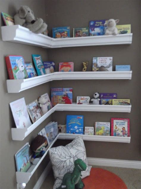 Diy Gutter Bookshelf  Gutter Bookshelf, Room And Playrooms