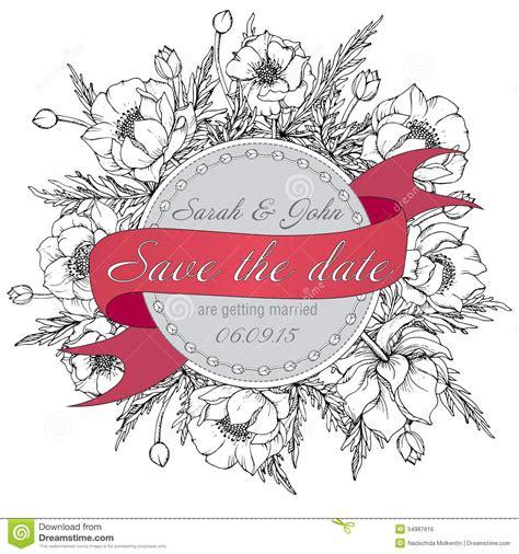 vintage elegant wedding invitation  card save  date