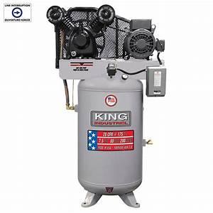 High Output 7 5 Peak Hp 80 Gallon Air Compressor King