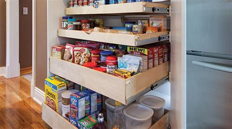 Kitchen Ideas Pictures - pantry pull out shelves custom shelves shelfgenie