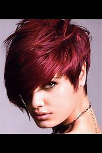 Textured Short Hair With Red Violet Color Paulmitchell