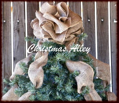 how to make a burlap christmas tree burlap tree topper burlap tree by christmasalley
