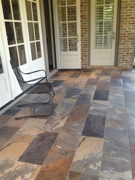 porcelain tile on porch aggressively passive