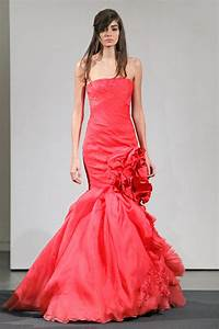 Ideas of coral wedding dresses for ladies designers for Coral dress for wedding
