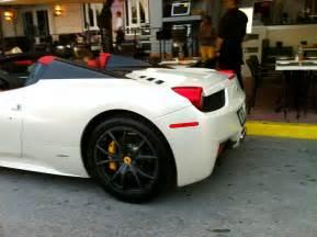 White Ferrari 458 Italia Spider