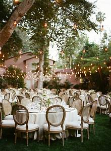 Outdoor summer wedding backyard home the interior for Outdoor wedding reception lighting