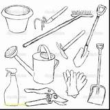 Tools Coloring Gardening Tool Drawing Utensils Handy Manny Printable Illustration Belt Cooking Sheets Kitchen Vector Names Getdrawings Depositphotos Getcolorings sketch template