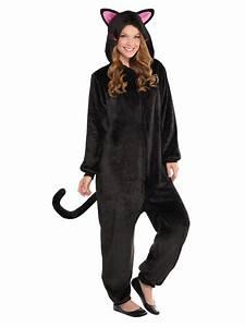 Adult Black Cat Onesie Costume Wholesale Halloween Costumes