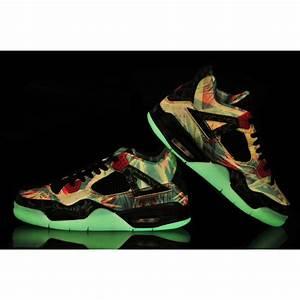 Women Air Jordan 4 Maple Limited Edition Glow Black Green ...