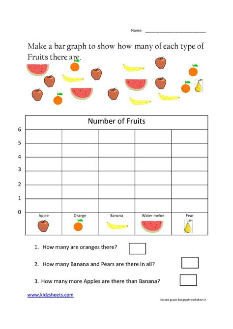 second grade bar graph grade 2 math math worksheets