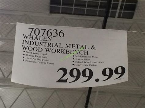 whalen industrial metal wood workbench costcochaser