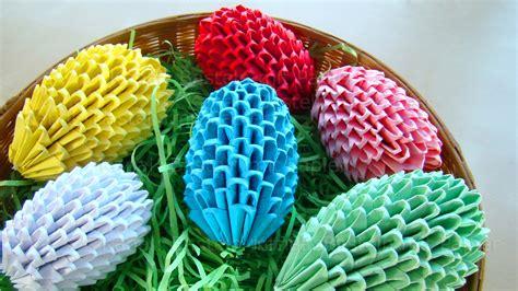 basteln papier origami ostereier selber basteln ostern osterbasteln mit papier ostergeschenke diy