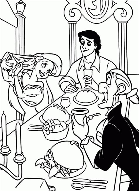 prince eric coloring pages coloring home
