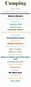 Fun page title ideas for your camping pages! # ...