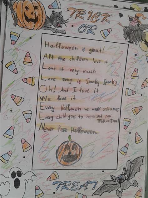 Halloween Acrostic Poem Ideas by Mrs Rania S E Class November 2015
