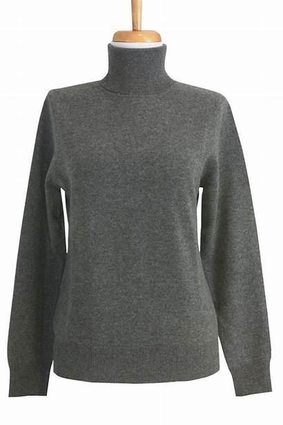 Sweater Turtleneck Grey Cashmere Dark Ply Sweaters