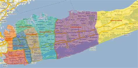 map   york boroughs  long island  travel