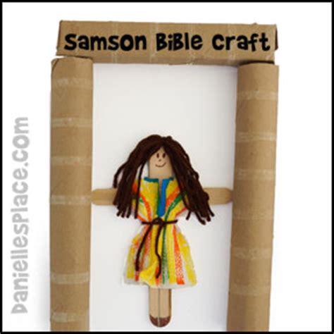 samson bible lesson for children 758   samson craft stick puppet