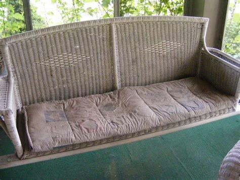decor rustic wicker porch swing