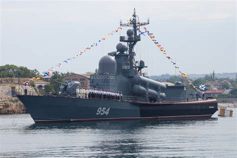 The Russian Navy Day celebrating on the Black Sea fleet ...