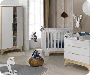 chambre bebe complete pepper blanche et bois With chambre blanche et bois