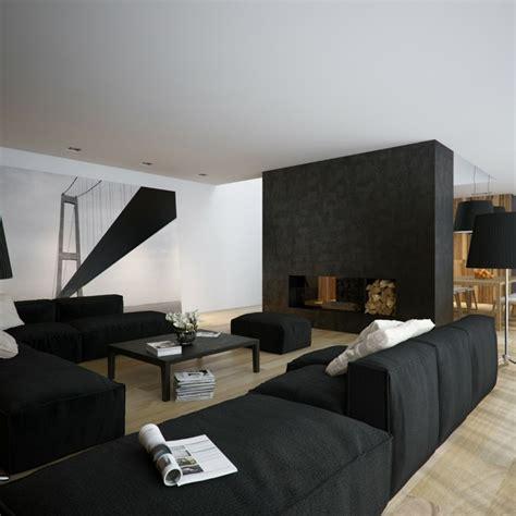 Bilder Wohnzimmer Schwarz Weiss by D 233 Co Salon Noir Et Blanc Une Dualit 233 Compl 233 Mentaire