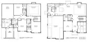 Home Layout Design Ideas Floor Plan With Fancy Closet Layout In First And Second Floor Plan