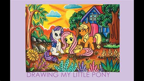 gradasi warna tema   pony speed drawing