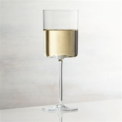 edge white wine glass reviews crate  barrel