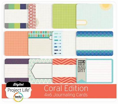 Coral Cards 4x6 Fold Bi Journaling Edition