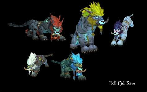 troll worgen druid forms cat and monchew