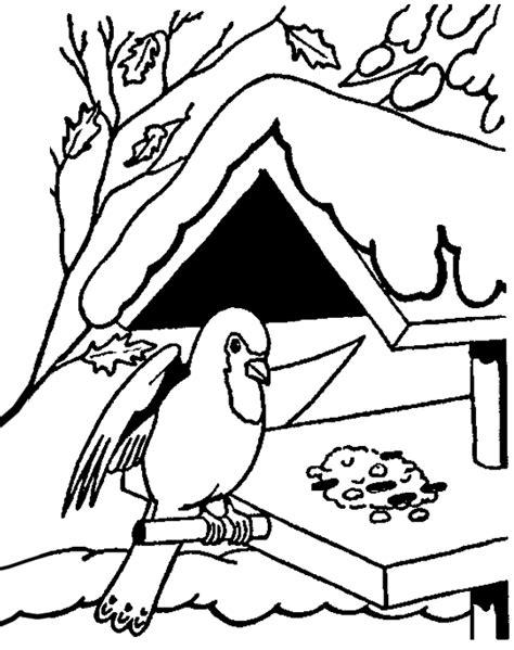 Kleurplaat Vogels In De Winter by Winter Kleurplaten Vogel In De Winter