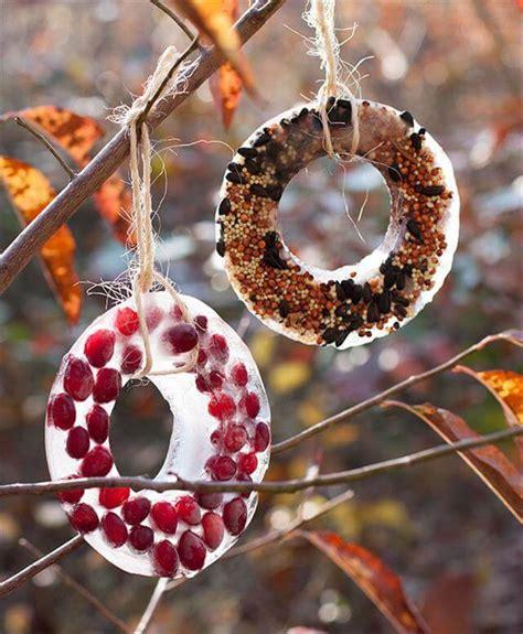 diy homemade birdseed wreath diy