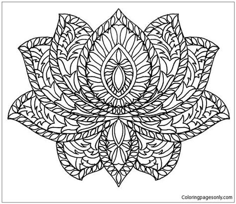 lotus mandala coloring page  coloring pages