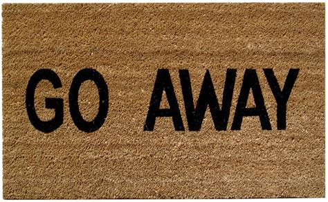 Doormat Go Away by Go Away Doormat Mats Matter
