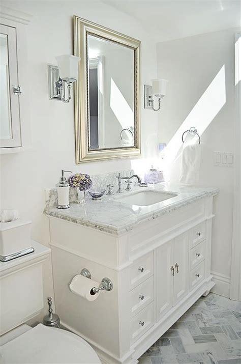 attic guest bathroom carrara marble white scheduled
