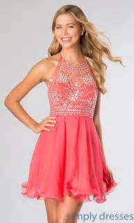 homecoming halter dresses short holiday dresses