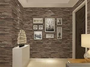 Vinyl Textured Embossed Brick Wall Wallpaper Modern 3d ...