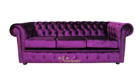Chesterfield Settee by Chesterfield 3 Seater Settee Boutique Purple Velvet Sofa Offer