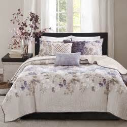 Jcpenney California King Bedding by Beautiful Modern Chic Purple Grey Taupe Spa Leaf Cotton