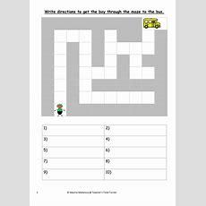 Directions Maze By Teacherstimeturner  Teaching Resources Tes