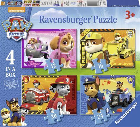 jeux de la pat patrouille paw patrol la pat patrouille puzzle 4 en 1 jeux