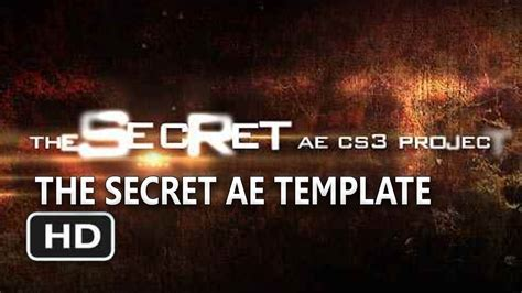After Effects Template Secret Files by Free Adobe After Effects Template The Secret Project Hd