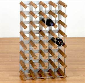 Wood & Metal Industrial Wine Rack - Contemporary - Wine