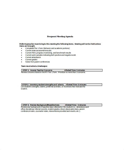 client meeting agenda templates  sample