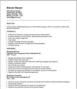 resume templates contact information sales marketing resume exles