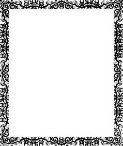 Black Borders and Frames Clip Art