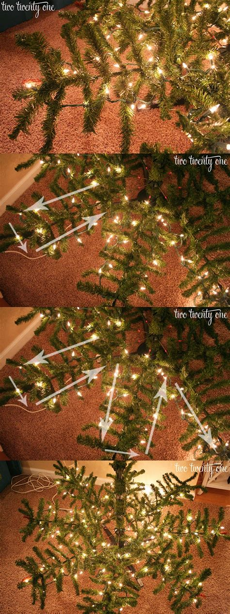 how to put lights on a christmas tree how to put lights on a christmas tree