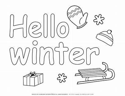 Coloring Winter Hello Neighbor Season Planerium Printable