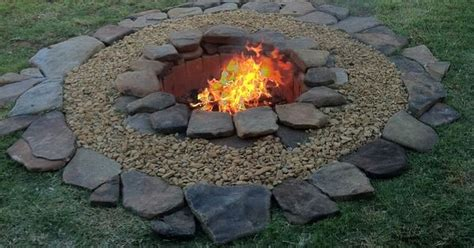 inexpensive fire pit affordable backyard ideas